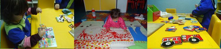 Testar a perícia, jogar com as cores e fazer associações, três das áreas trabalhadas na Creche 2